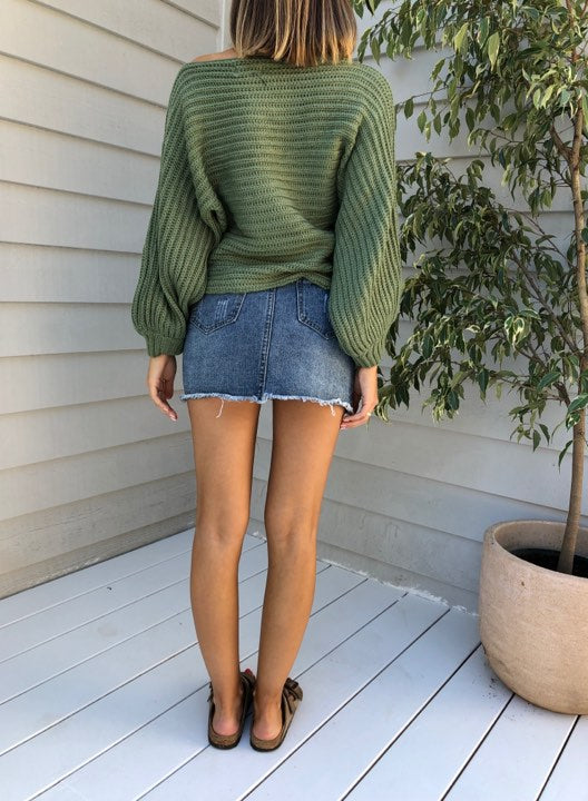 Handle It Jumper - Olive