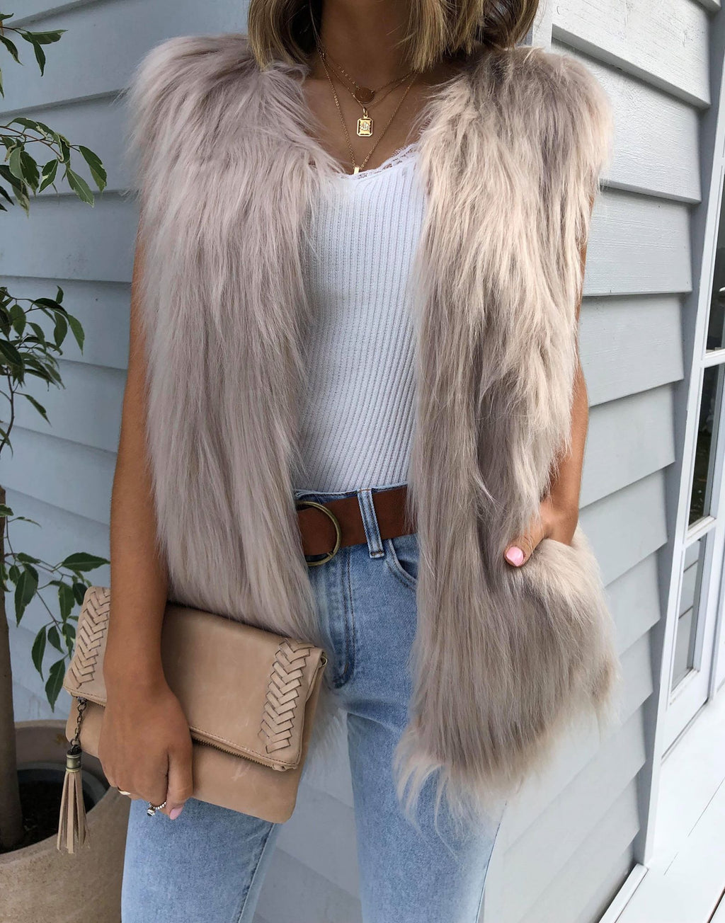 Windsor Faux Fur Vest