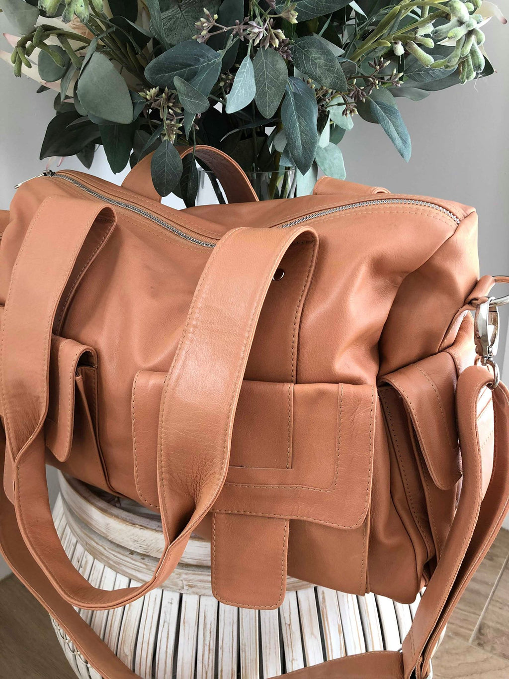 Meka leather bag - light tan