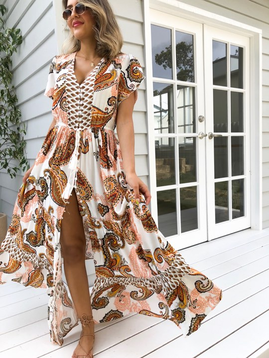 Paisley Days Maxi Dress