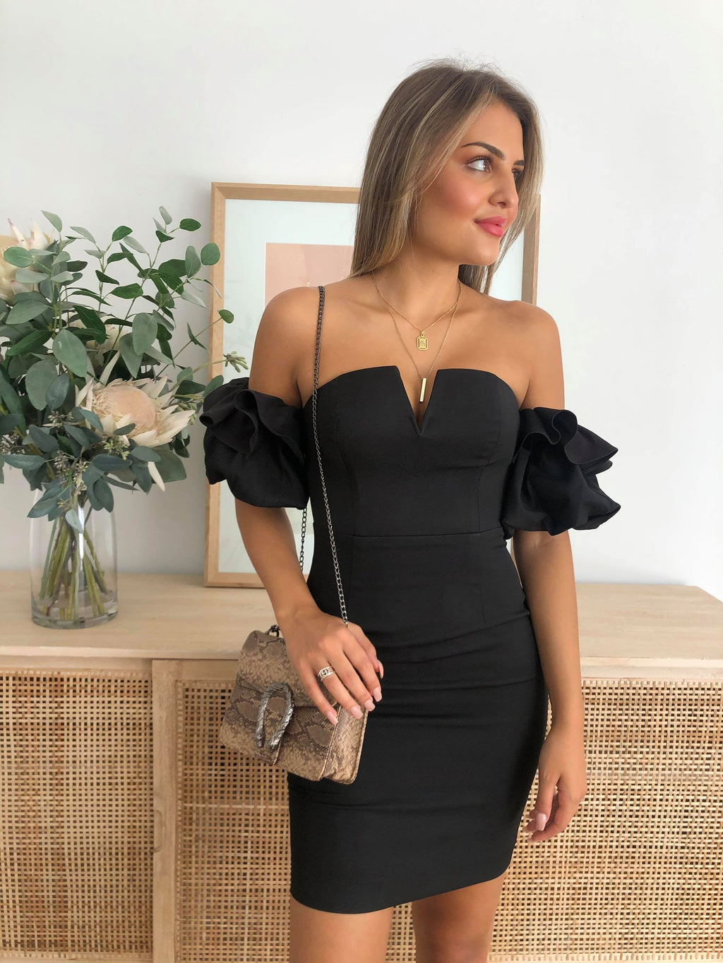truth off shoulder dress