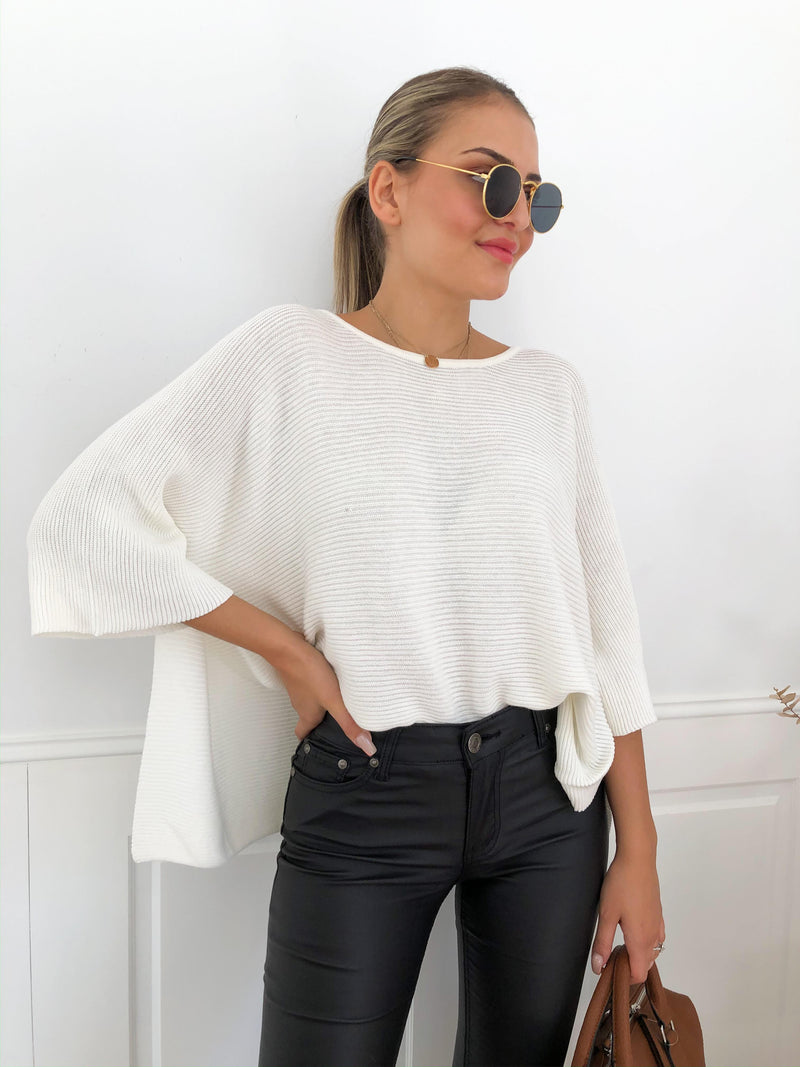 Cally Knit - White