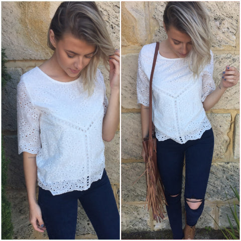 Grace Lace Top
