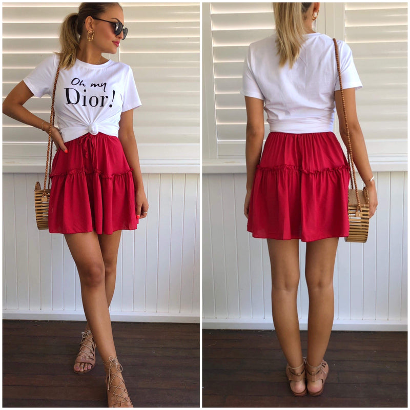 Oh My Dior Tee - White