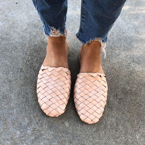 Umbria Woven Leather Loafer - Light Nude