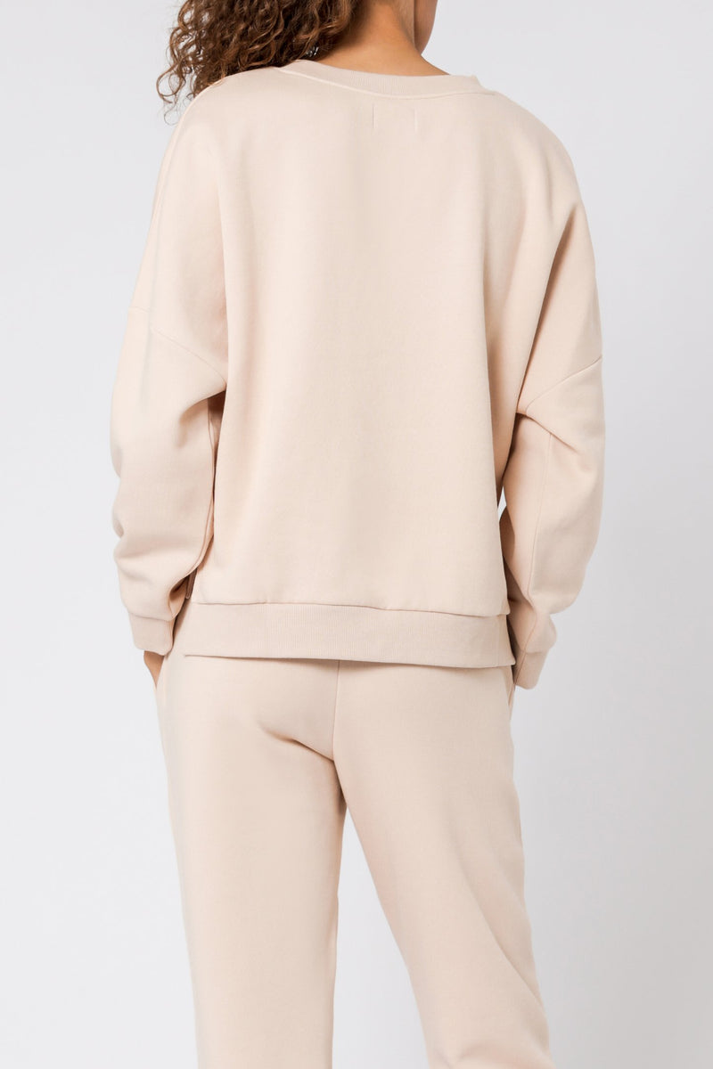 Carter Classic Oversized Sweat - Blush
