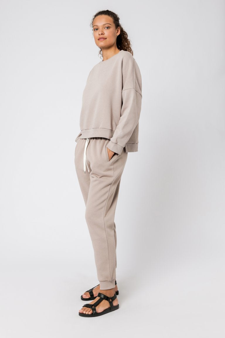 Carter Classic Oversized Sweat - Taupe
