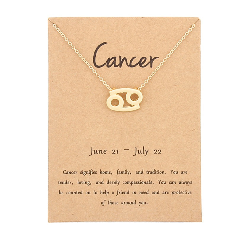 Zodiac Sign Necklace - Cancer