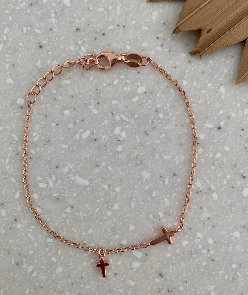 Two crosses bracelet