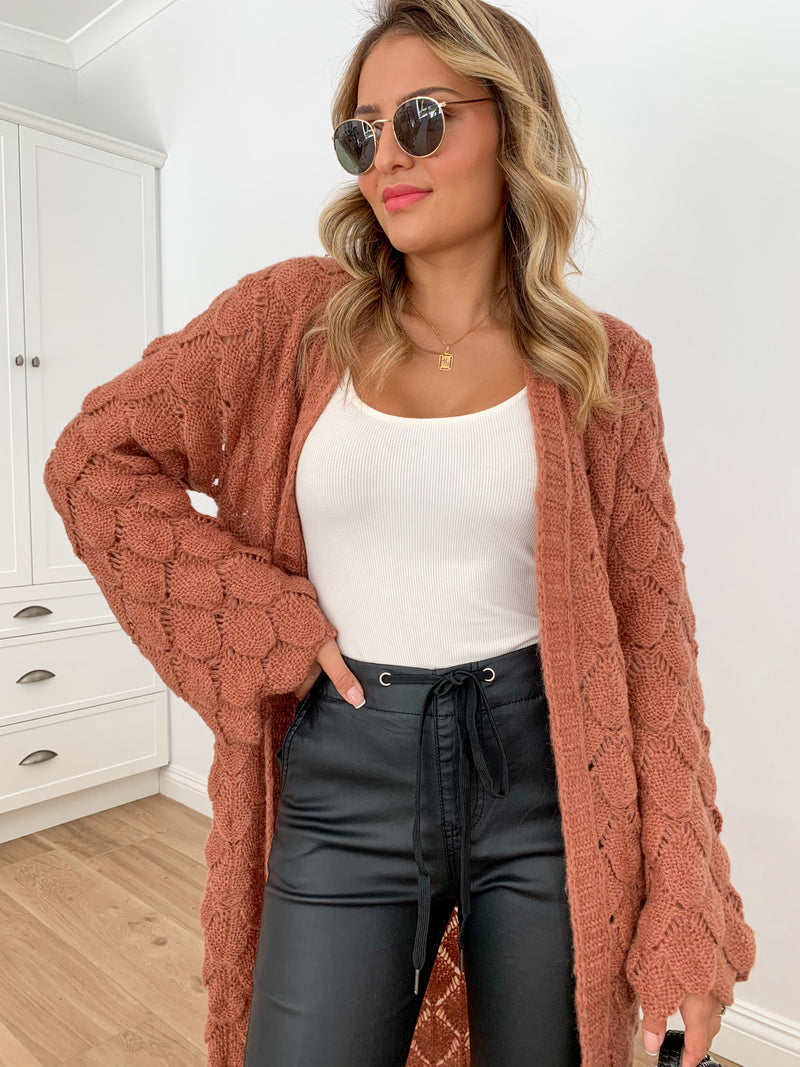 Honeysuckle Cardi - Rust