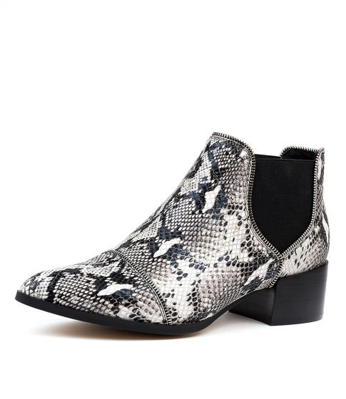 Diesel Leather Boots - Python