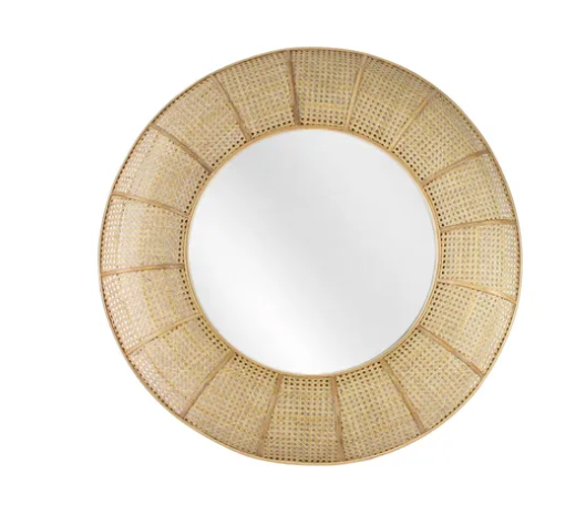 Carva Rattan Mirror - collect Gateways