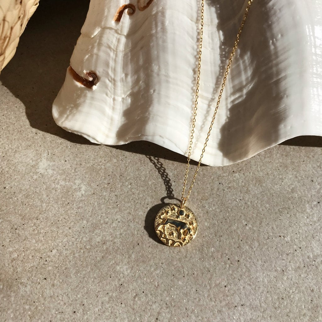 Taurus 18K Gold Zodiac Necklace