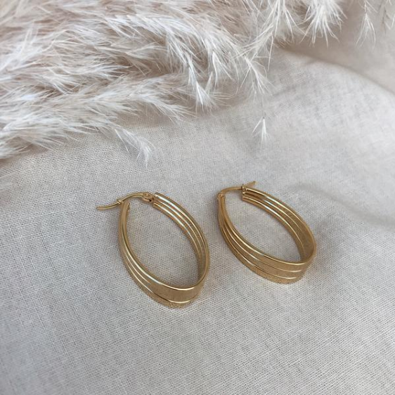 KITSENSE | GRACYN WIDE OVAL HOOPS