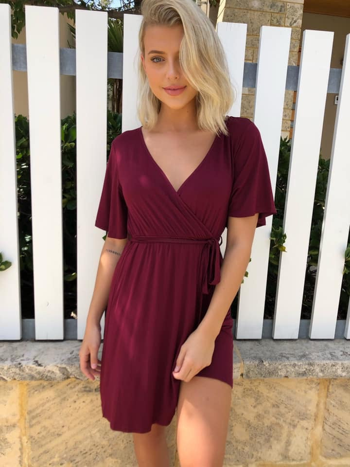 Blevie Dress - Burgundy