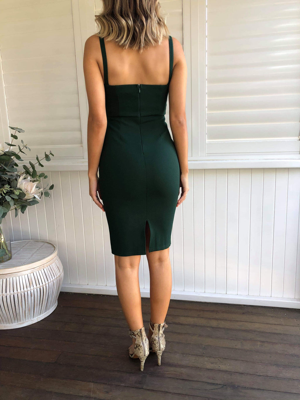 Bergamo Dress - Forest Green