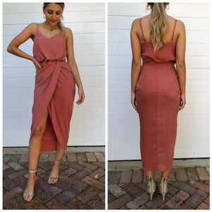 LOLLA dress deep apricot