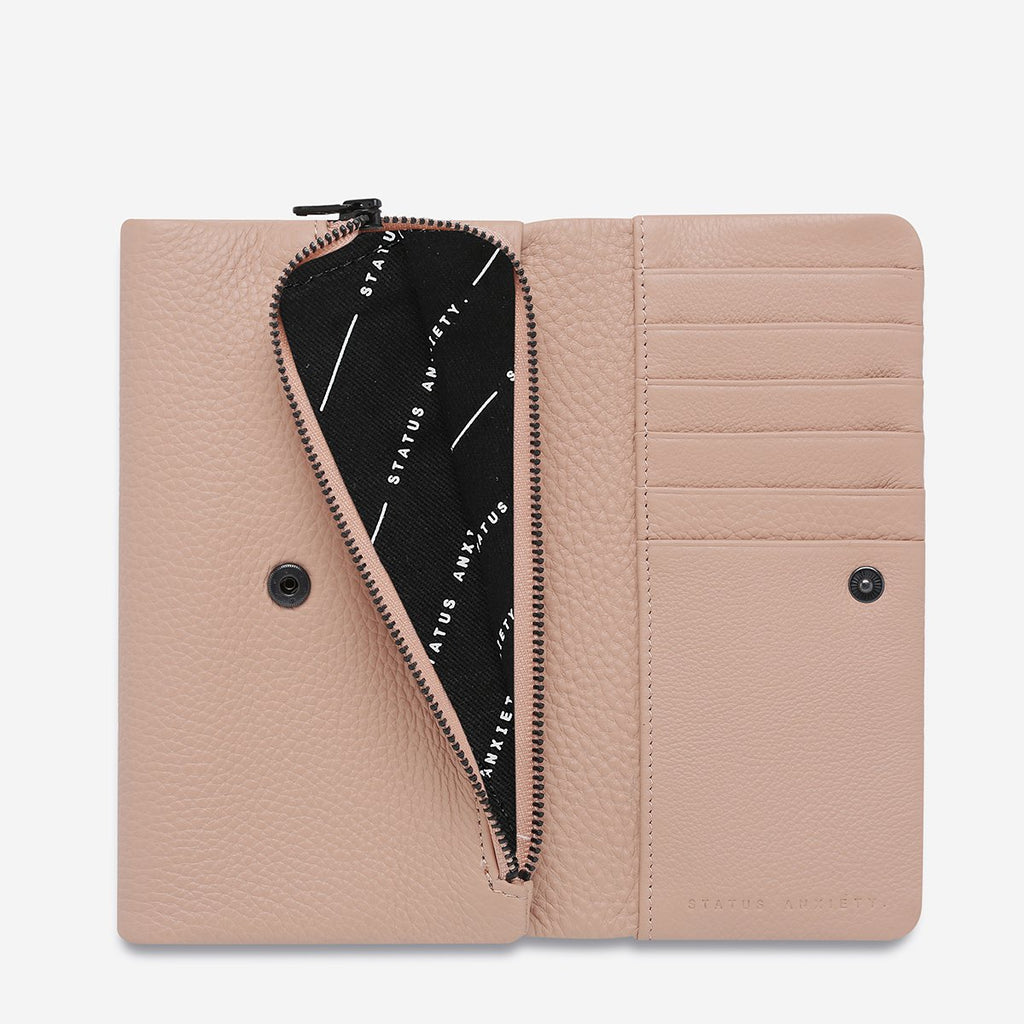 AUDREY WALLET - DUSTY PINK PEBBLE