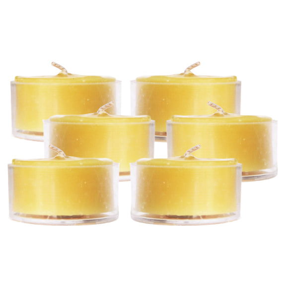 Mole Hollow Candles - Natural Beeswax Tea Lights, Bag of 6