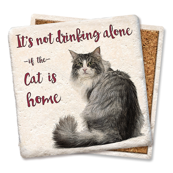 It's Not Drinking Alone Cat Coaster - Tipsy Coasters & Gifts