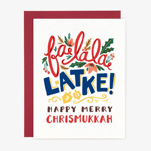 Paper Pony Co. - Fa La La Latke Card