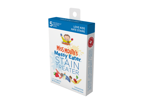 Miss Mouth's Messy Eater Stain Treater 5-Pack Wipes - The Hate Stains Co.