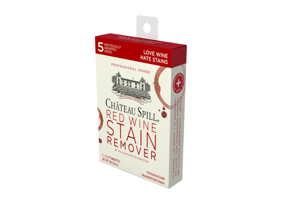 Chateau Spill Red Wine Stain Remover - Case of 5-Pack Wipes - The Hate Stains Co.