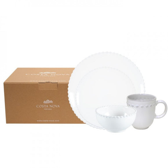 PEARL WHITE 4 PC PLACE SETTING