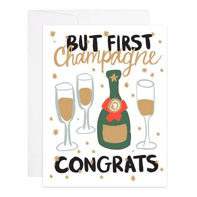 Champagne Congrats - 9th Letter Press