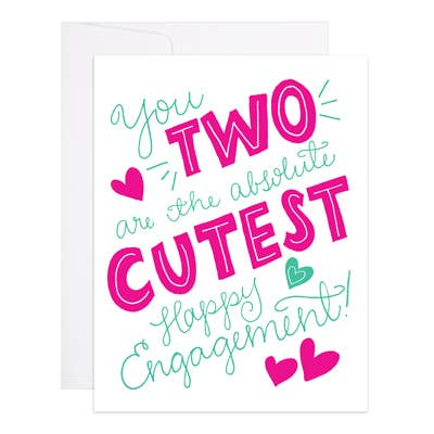Two Are The Cutest - 9th Letter Press