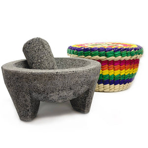7'' Molcajete with Tortilla Basket - Verve Culture