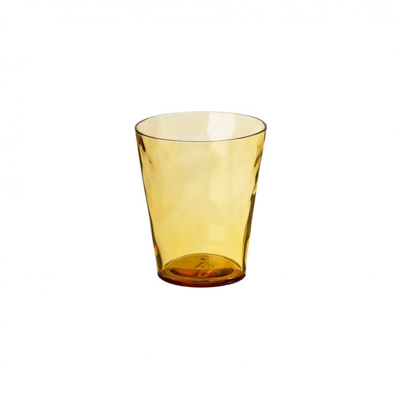 AMBER LISA WATER GLASS 380ML