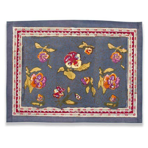 Couleur Nature - Pansy Red & Grey Placemat - Set of 6