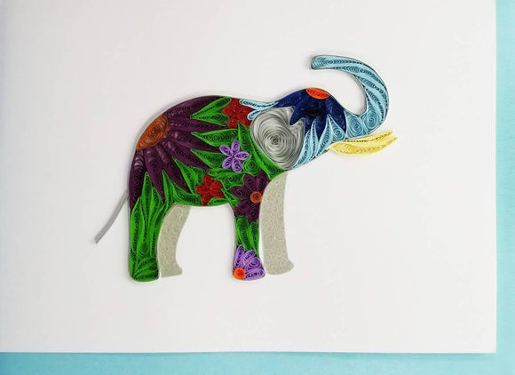 Elephant Card - Iconic Quilling