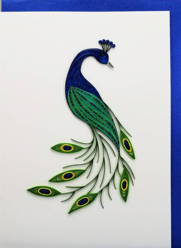 Peacock Card - Iconic Quilling
