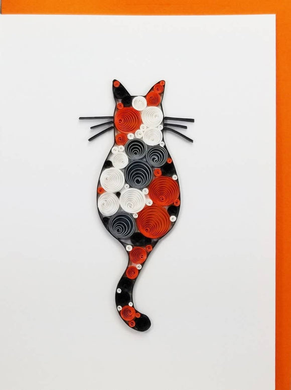 Calico Cat Card - Iconic Quilling