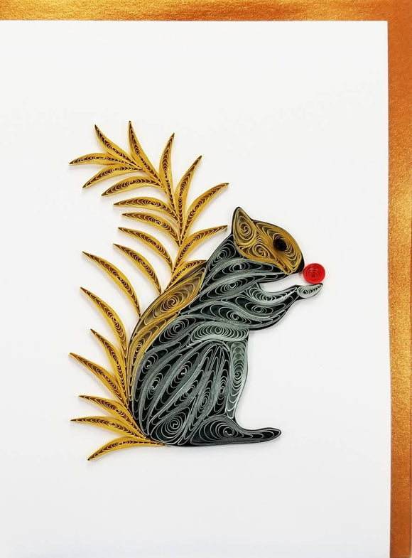Squirrel Card - Iconic Quilling