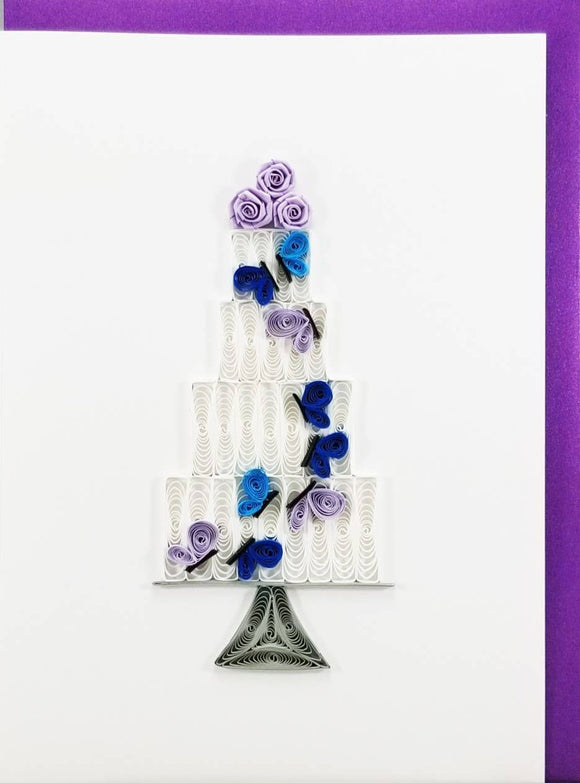 Wedding Cake Card - Iconic Quilling