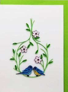 Love Birds Card - Iconic Quilling