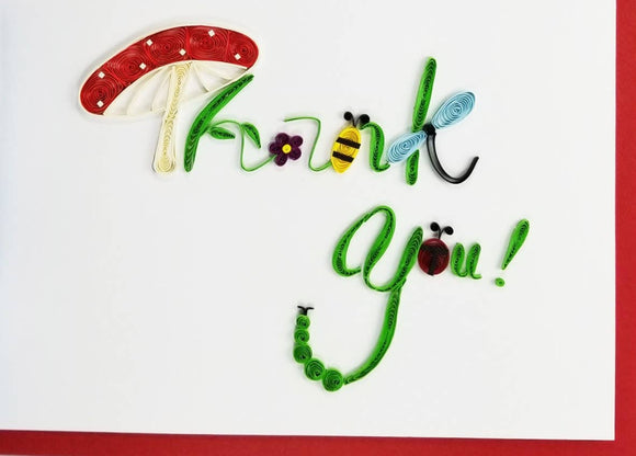 Thank You Card - Iconic Quilling