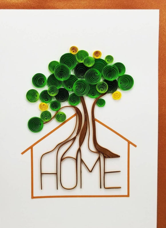 Home Tree Card - Iconic Quilling