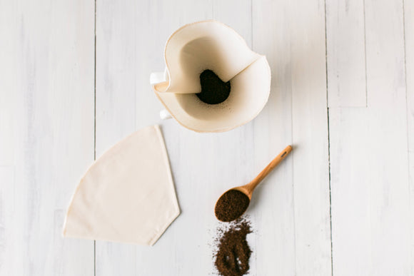 Reusable Coffee Cone Filters- Organic Cotton,  - Dot and Army