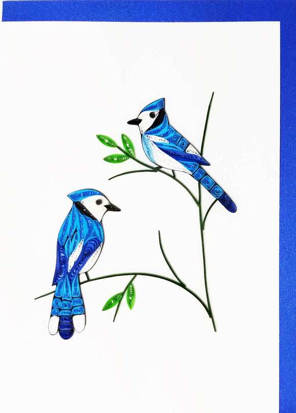 Blue Jay Couple - Iconic Quilling