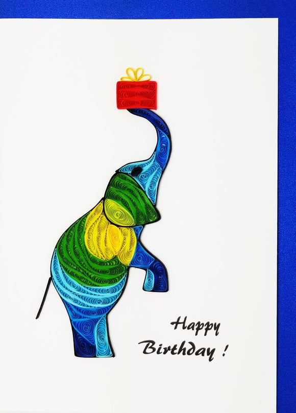 Happy Birthday Elephant - Iconic Quilling
