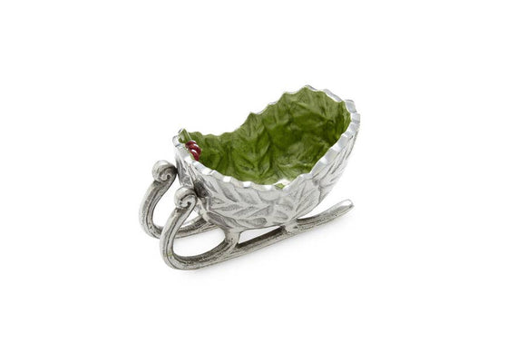 Holly Sprig Petite Sleigh Bowl - Julia Knight Inc.