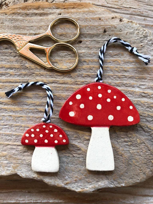 Assorted Handmade Mushroom Holiday Ornament Pair - Tasha McKelvey