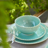 PEARL AQUA 5 PC PLACE SETTING
