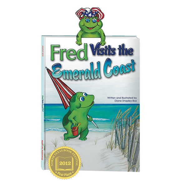 Apple Pie Publishing - Fred Visits the Emerald Coast Book - Aubergine