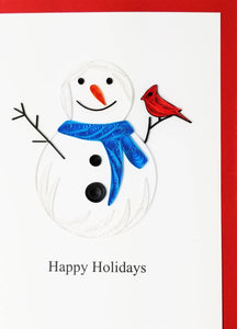 "Snowman ""happy holidays"" - Iconic Quilling"