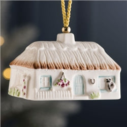 Azalea Cottage Ornament - Belleek